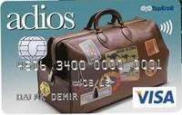 Adios kredi kartı görseli.