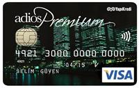 Adios Premium kredi kartı görseli.
