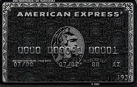 American Express Platinum kredi kartı görseli.