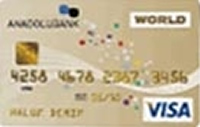 Anadolubank Gold Worldcard kredi kartı görseli.
