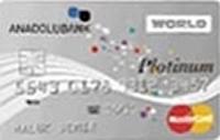 Anadolubank Platinum Worldcard kredi kartı görseli.