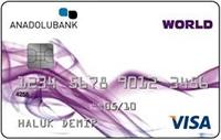 Anadolubank Worldcard kredi kartı görseli.