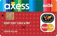 Axess Exi26 kredi kartı görseli.