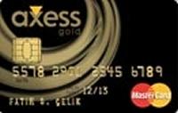 Axess Gold kredi kartı görseli.