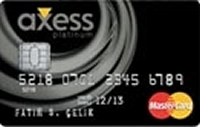Axess Platinum kredi kartı görseli.