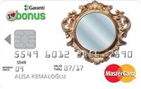 Aynalı Bonus Plus kredi kartı görseli.
