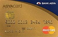 Bank Asya Gold Card kredi kartı görseli.