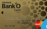 Bank'O Card Gold kredi kartı görseli.