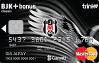 BJK Bonus Platinum Card kredi kartı görseli.