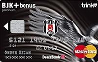 BJK Bonus Platinum kredi kartı görseli.