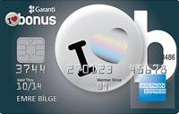 Bonus American Express kredi kartı görseli.