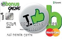 Bonus Genç kredi kartı görseli.
