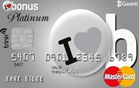 Bonus Platinum kredi kartı görseli.