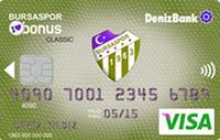 Bursaspor Bonus Gold kredi kartı görseli.