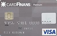 CardFinans Platinum kredi kartı görseli.