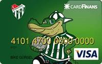 CardFinans Bursaspor kredi kartı görseli.