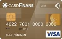 CardFinans Gold kredi kartı görseli.