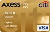Citi Axess Gold kredi kartı görseli.