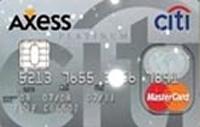 Citi Axess Platinum kredi kartı görseli.