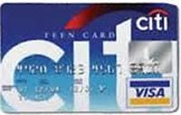 Citi Teen kredi kartı görseli.
