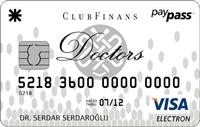 ClubFinans Doctors kredi kartı görseli.