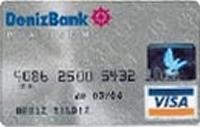 DenizBank Platinum kredi kartı görseli.