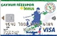 DenizBank Çaykur Rizespor Bonus kredi kartı görseli.