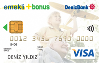 DenizBank Emekli Bonus kredi kartı görseli.