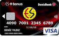 DenizBank ESES Bonus kredi kartı görseli.