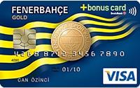 DenizBank Fenerbahçe Bonus Gold kredi kartı görseli.