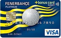 DenizBank Fenerbahçe Bonus Platinum kredi kartı görseli.