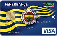 DenizBank Fenerbahçe Bonus kredi kartı görseli.
