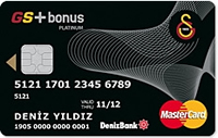 DenizBank GS Bonus Platinum kredi kartı görseli.