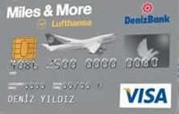 DenizBank Miles & More Platinum kredi kartı görseli.