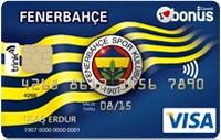 Fenerbahçe Bonus Platinum kredi kartı görseli.