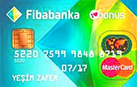 Fibabanka Bonus Platinum kredi kartı görseli.