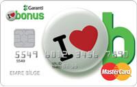 Garanti Bonus kredi kartı görseli.
