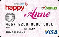 Happy Anne kredi kartı görseli.