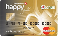 Happy Card Gold kredi kartı görseli.