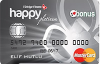 Happy Card Platinum kredi kartı görseli.