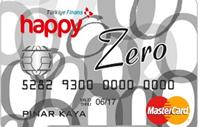 Happy Zero kredi kartı görseli.