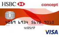 HSBC Concept kredi kartı görseli.