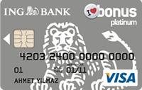 ING Bonus Platinum kredi kartı görseli.