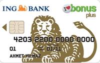 ING Bonus Plus kredi kartı görseli.