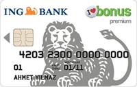 ING Bonus Premium kredi kartı görseli.