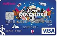 İş'te Üniversiteli kredi kartı görseli.