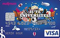 İş'te Üniversiteli Aidatsız Kredi Kartı kredi kartı görseli.