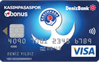 Kasımpaşaspor Bonus kredi kartı görseli.