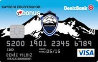 Kayseri Erciyes Spor Bonus kredi kartı görseli.