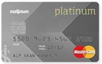MasterCard Platinum kredi kartı görseli.